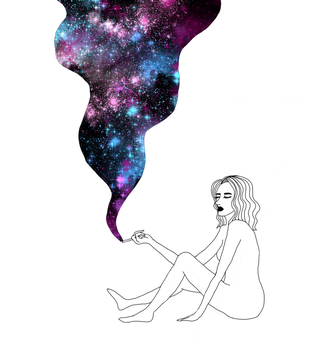 Cosmic cigarette by ShadeOfYelloow
