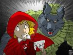Le loup_Chaperon rouge by bluerabbit63