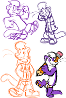 more ferret doodles by Goronic