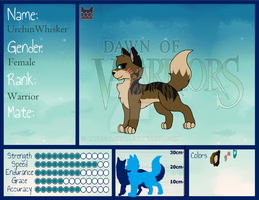 UrchinWhisker updated Refrence sheet by RaveGalaxy