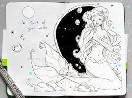 Inktober Sing Along + Part of Your World by larienne