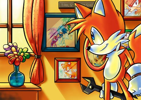 Tails inside his room by Sapphire1010