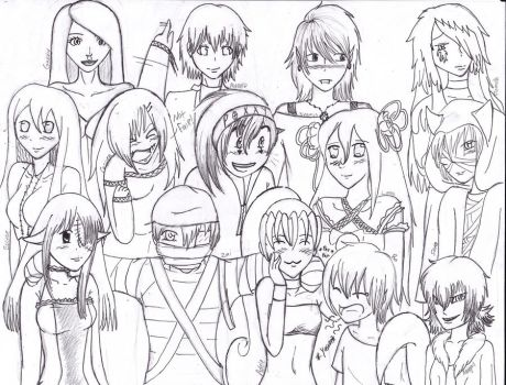 Group pic_ Original Line Art by k-kitty9218