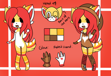 Character Reference: Ashley the Wolf by xMaggieMags