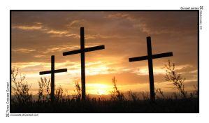 Three Crosses Sunset by viruswatts