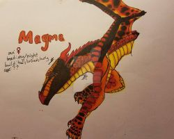 Magma(new main oc) by BloodbathDAnightwing