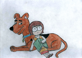 'A Pup named Scooby Doo': Friendly pillow by Ms-VerMa