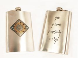Flask with emblem of Nolofinwe by Katlinegrey