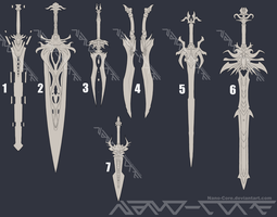 Lineart Weapon Adopts 3 (3/7 open) by Nano-Core