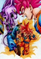 Goku VS Bills by pensierimorti