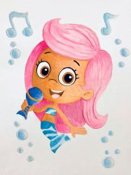Bubble Guppies - Molly Painting by TheKissingHand