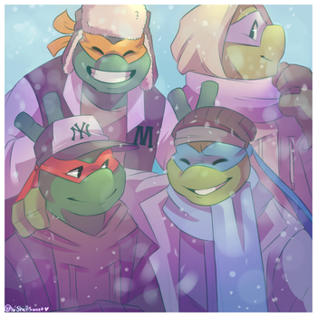 Tmnt christmas favourites by keiko natsuki on deviantart alessandradc 29 19 merry turtley christmas by shellsweet sciox Image collections