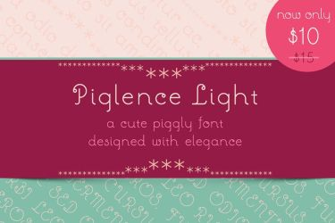 Piglence Light Font by GraphicIdentity
