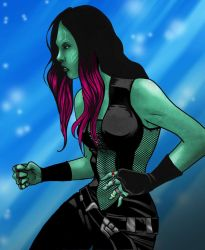 Gamora by ajaxone