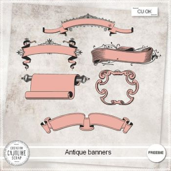 FREEBIE - Antique banners CU by cajoline-scrap