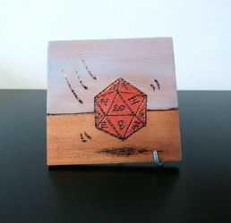 Rolling D20 Art Block by smelliga