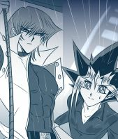 Kaiba and Yugi by Ycajal