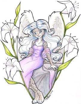 Artemis with Lilies by nalina