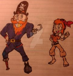 Captain Peg and Penny by JakeToons98