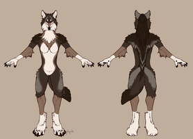 Fursuit refsheet -  Wolfram by Kay-Ra
