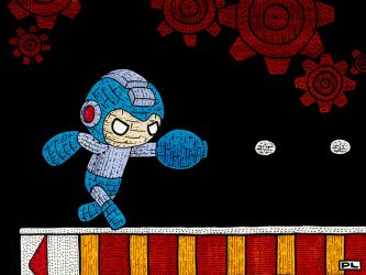 Yarn Mega Man by PedroLajud