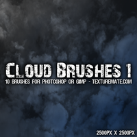 Clouds 1 Texture Brushes by AscendedArts