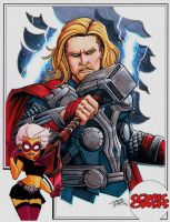 Comic Oasis Cardstock Thor by KidNotorious
