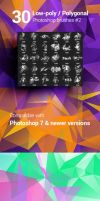 30 Low-Poly / Polygonal Photoshop Brushes #2 by env1ro