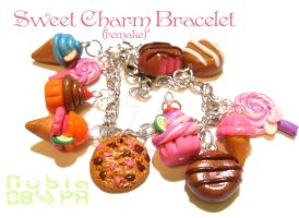 Sweet Charm bracelet remake by colourful-blossom