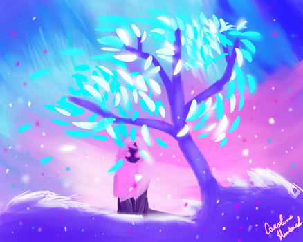 A magic forest is nothing without magic. by NerfLemon