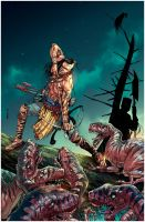 Turok:Dinosaur Hunter Issue#1 Cover by panelgutter