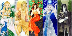 - Agape - Greek Gods Art nouveau - by ooneithoo