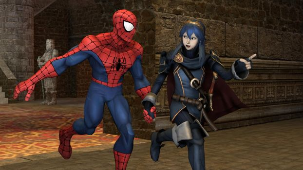 Lucina and Spider-Man: Lets us go on an Adventure! by kongzillarex619