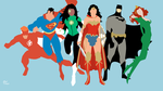 Super Heroes - Minimalist Wallpaper by Meleusou
