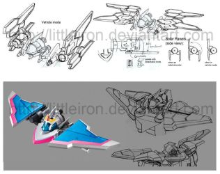 Space Deleter Vehicle Design: Dream Fighter by littleiron