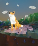Low Poly Fox by QuickBoomCG