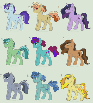 Pastel Stallion Adopts - OPEN by MonkFishyAdopts