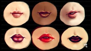 W. ART CHALLENGE #23 LIPS PRACTICE (+video) by just-caro