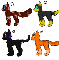 cat Adoptable batch (3/4 open) by Redpandaseas