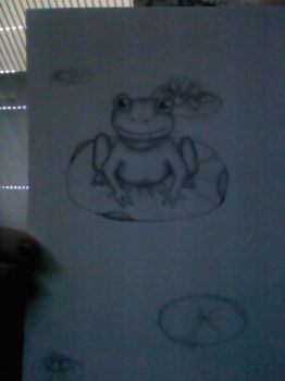 Frog Scetch by Goddesofwolves