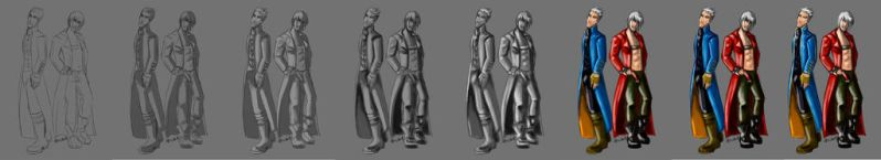 Sparda Twins - step by step by 7marichan7