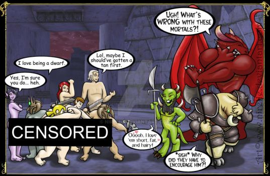 Dangers of DDO: Naked Shrouds by nirelle