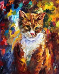 Cat by Leonidafremov