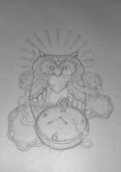 Owl tattoo design sketch by MadPorcupine
