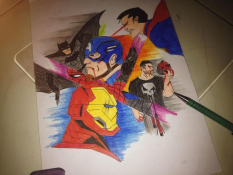 Superheroes FIGHT by Julalesss