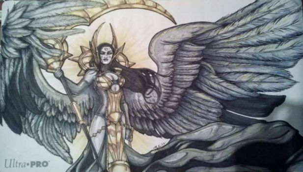 Playmat:Deathpact Angel by TheGrumpyFrog