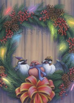 Wreath Birds by Red-Clover