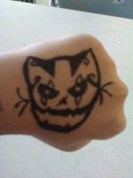 i got bored and i drew this on my hand by borisairay12