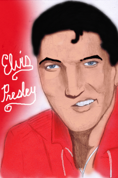 Elvis Presley Colored by ThatTMNTchick