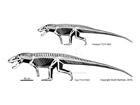 Postosuchus big and small by ScottHartman